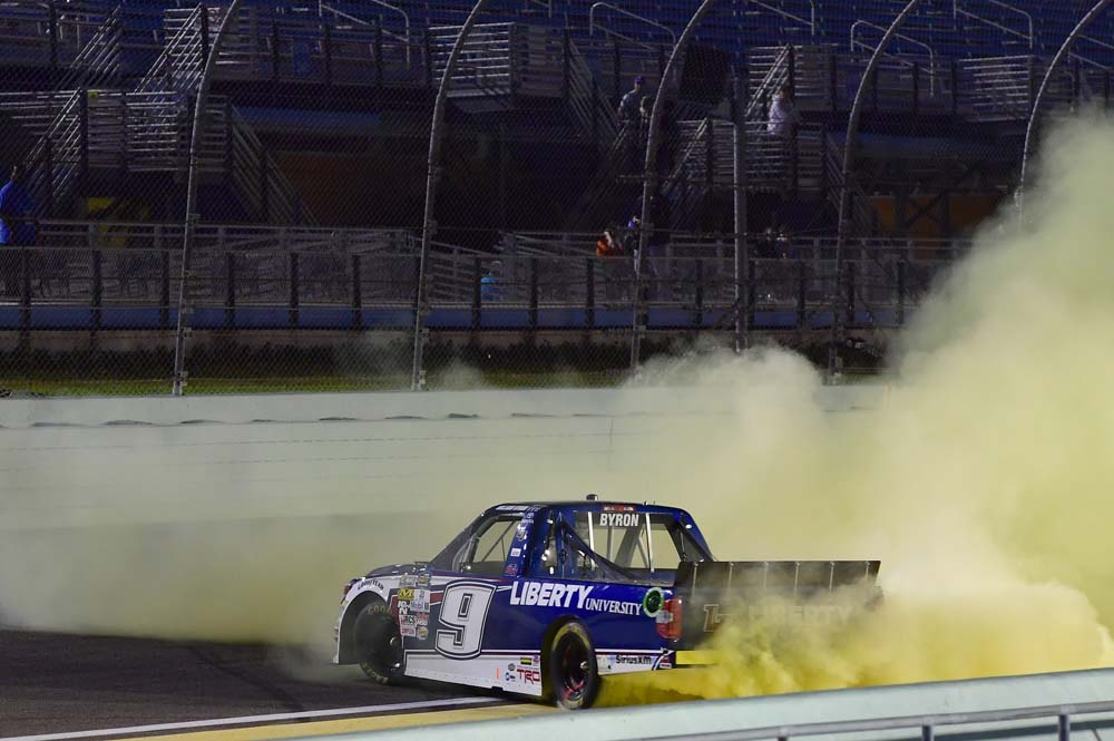 Redemption for byron as he wins homestead for Homestead motor speedway schedule