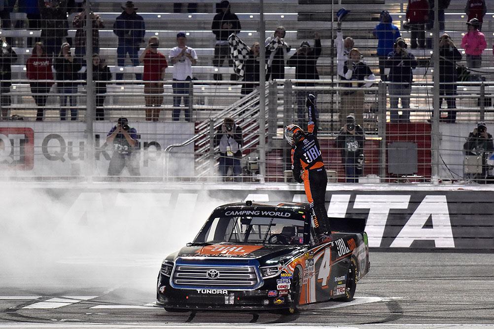 Bell Dominates Truck Series Race At Atlanta Motor Speedway