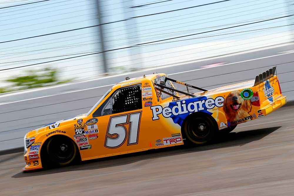 Todd Gilliland No 51 Pedigree Toyota Canada Advance